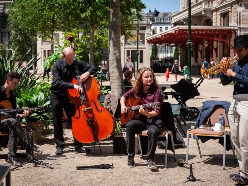 Muziek op de Kiosk